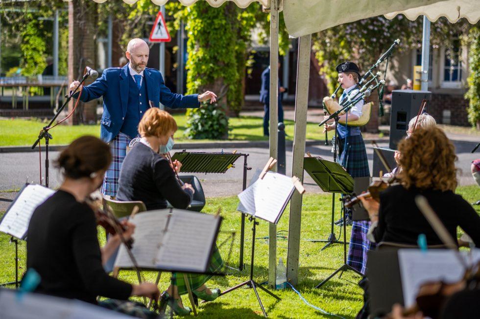 Catriona, Piper, Astley Ainslie Hospital Concert